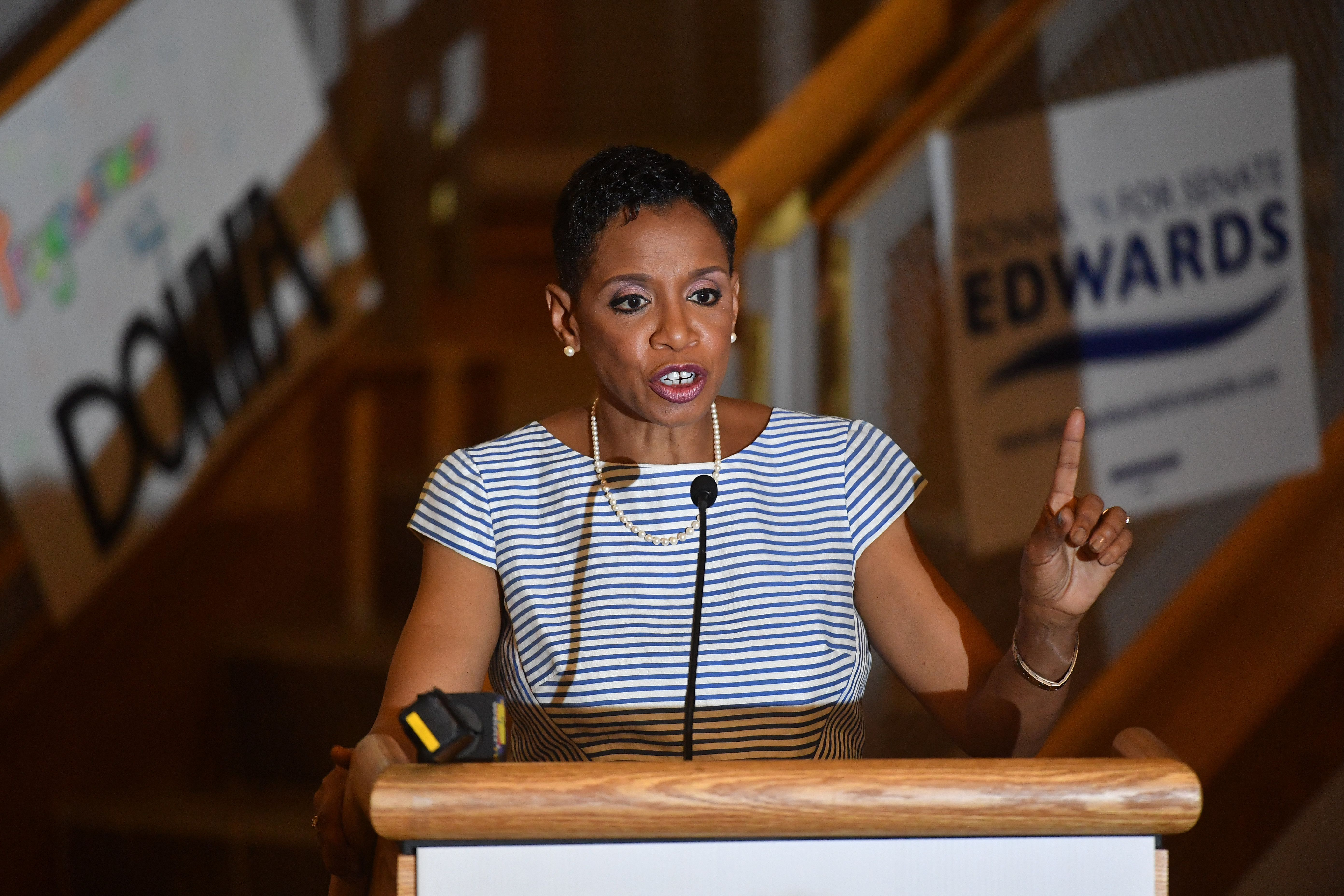 Maryland Democrat Donna Edwards left Congress in 2016 after a failed bid for the Democratic Senate nomination. On Saturday, s