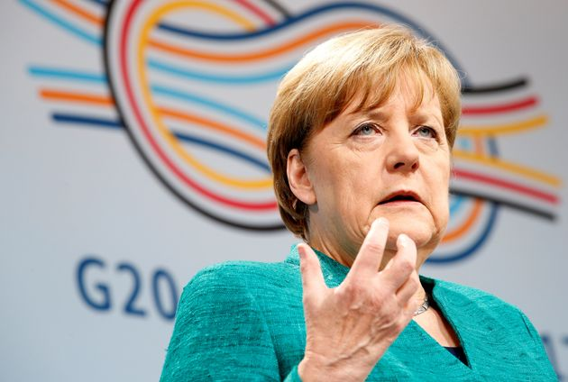 <strong>Angela Merkel speaks during a news conference to present the outcome of the G20 leaders...