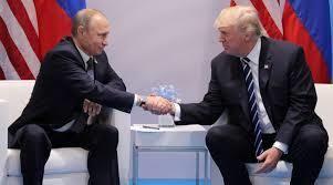 Russian President Vladimir Putin and United States President Donald Trump at the G20 Hamburg summit.