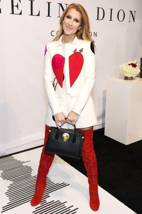 Celine Dion wearing Schiaparelli.
