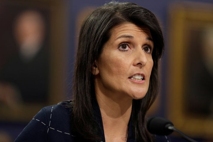 Nikki Haley, the U.S. ambassador to the United Nations, has diverged from President Donald Trump's talking points before.