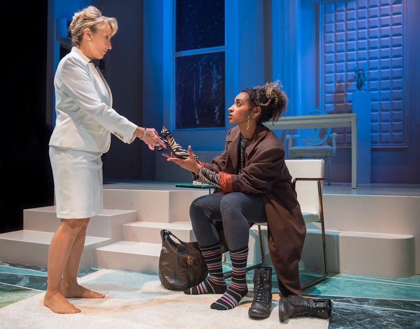Lorri Holt (Micheleine) and Sam Jackson (Gilma) in a scene from <em><strong>Splendour</strong></em>