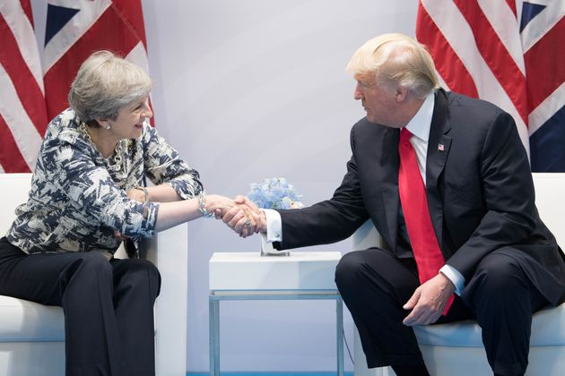 Prime Minister Theresa May holds talks with US President Donald Trump on the margins of the G20 summit...