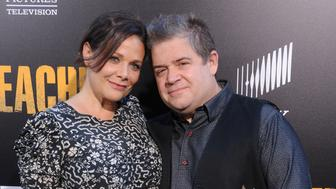 LOS ANGELES, CA - JUNE 20:  Patton Oswalt and Meredith Salenger arrive at the premiere of AMC's 'Preacher' Season 2 at The Theatre at Ace Hotel on June 20, 2017 in Los Angeles, California.  (Photo by Gregg DeGuire/WireImage)