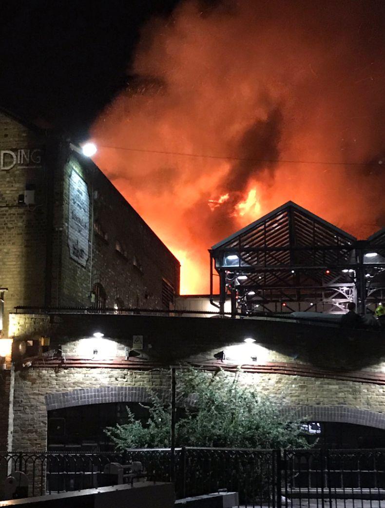 'Crazy, Crazy Scenes' At London's Camden Market As 'Huge Fire' Breaks