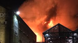 'Crazy, Crazy Scenes' At London's Camden Market As 'Huge Fire' Breaks