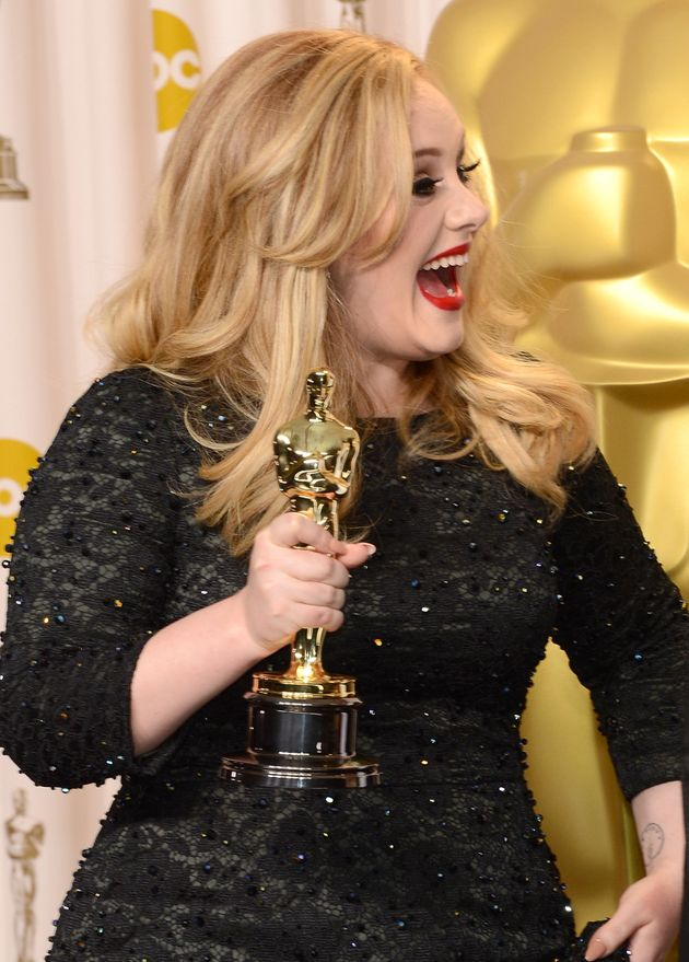 Adele at the Oscars in