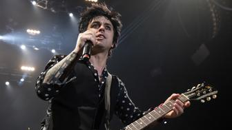 MANCHESTER, UNITED KINGDOM - FEBRUARY 06: Green Days Billy Joe Armstrong performs at Manchester Arena on February 06, 2017 in Manchester, England.  PHOTOGRAPH BY Carla Speight / Barcroft Images  London-T:+44 207 033 1031 E:hello@barcroftmedia.com - New York-T:+1 212 796 2458 E:hello@barcroftusa.com - New Delhi-T:+91 11 4053 2429 E:hello@barcroftindia.com www.barcroftimages.com (Photo credit should read Carla Speight / Barcroft Images / Barcroft Media via Getty Images)