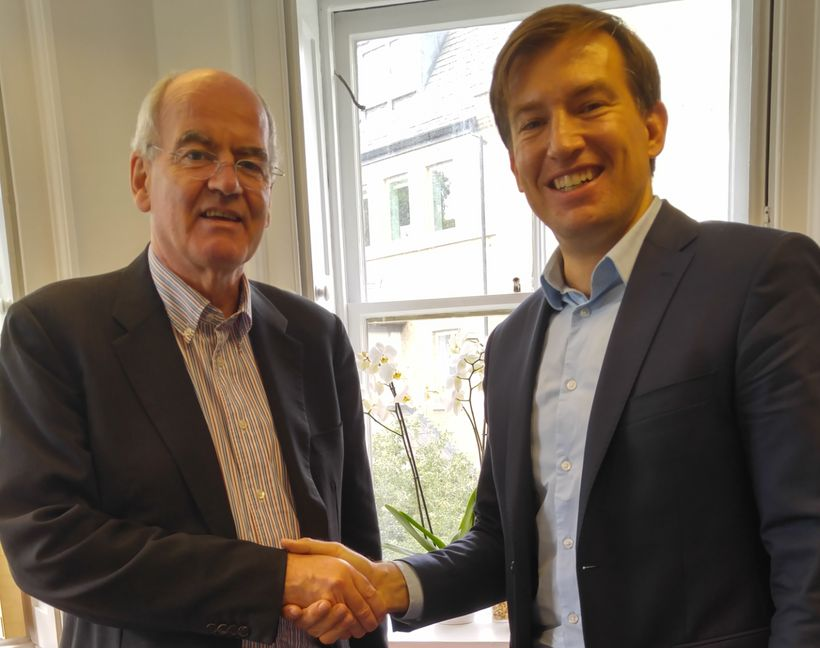 John Elkington (left) and Adam Sulkowski (right) at the Volans office in London, June 23, 2017.