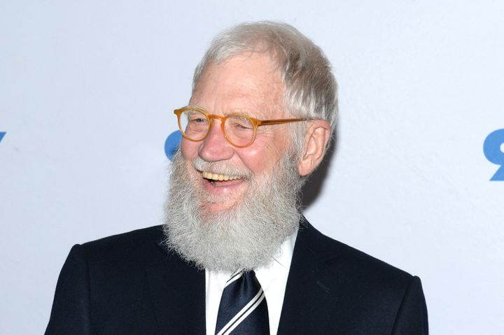 David Letterman attends a talk with Sen. Al Franken on May 30.