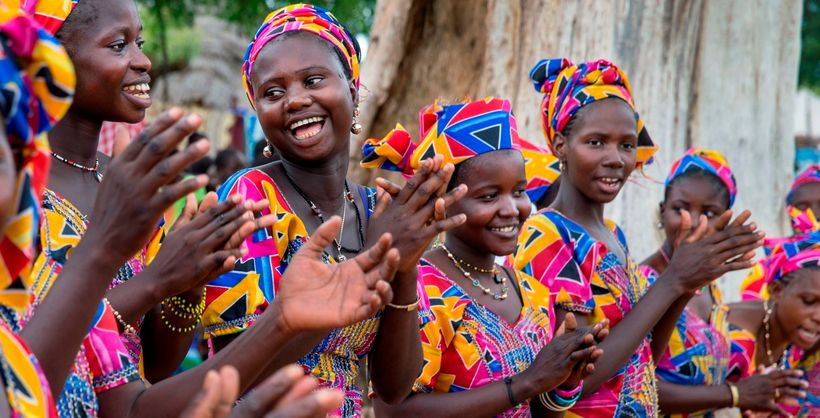 Young women in Senegal take part in a community empowerment program. Citizen groups are an ideal way for young people to get