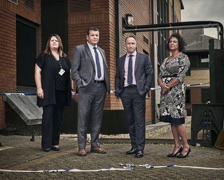 L-R Detective Constable Natalie Howard, Detective Inspector Stuart Blaik, Detective Superintendent Kevin...