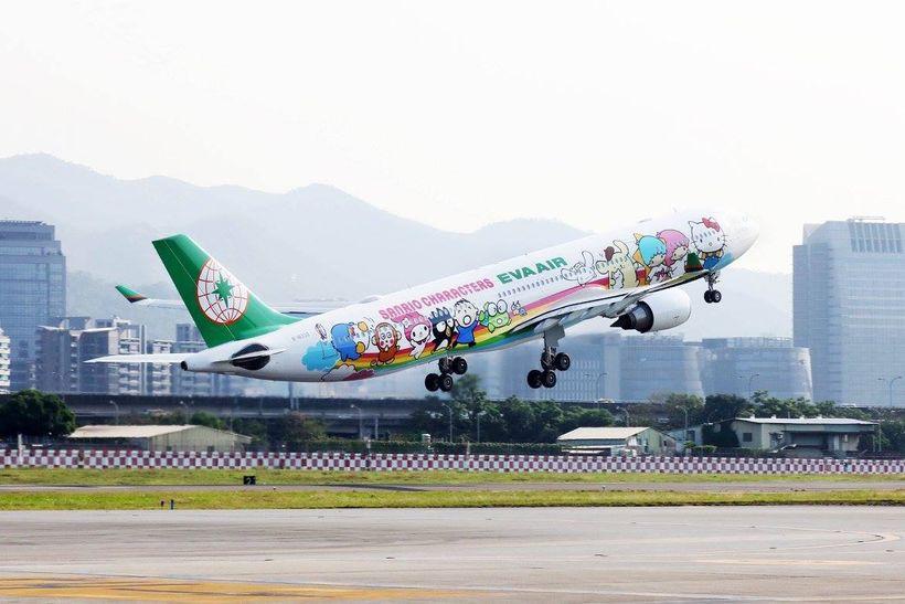 <em>EVA Air's Hello Kitty plane</em>