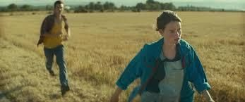 Julie (Pauline Étienne) stands up for her beliefs by cold-shouldering Samy (Olivier Chantreau), the trucker.
