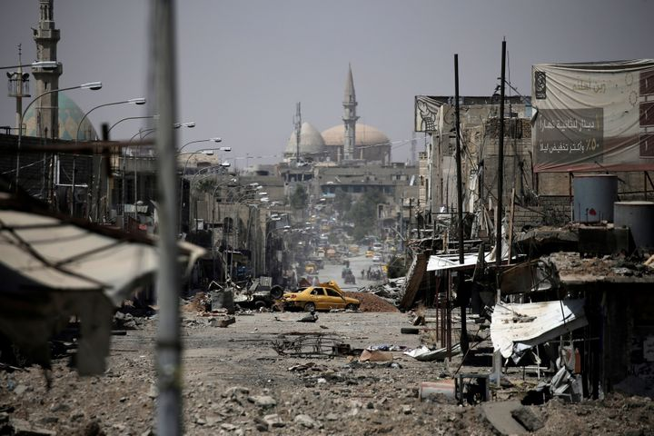 A view of western Mosul, Iraq, on May 29, 2017.