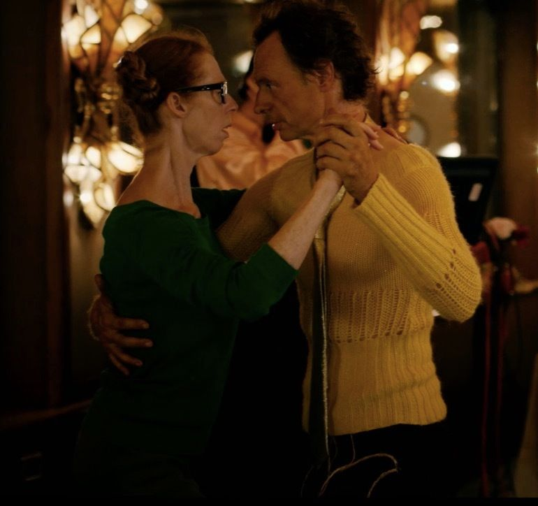 Fiona and Dom (Dominique Abel) find each other in <em>Lost in Paris.</em>