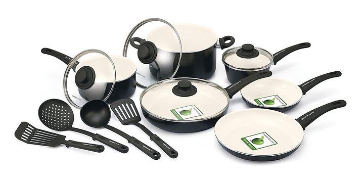 "Get<a href=""https://www.amazon.com/GreenLife-Ceramic-Non-Stick-Cookware-Black/dp/B00BDXM2FO?tag=thehuffingtop-20&th=1"""