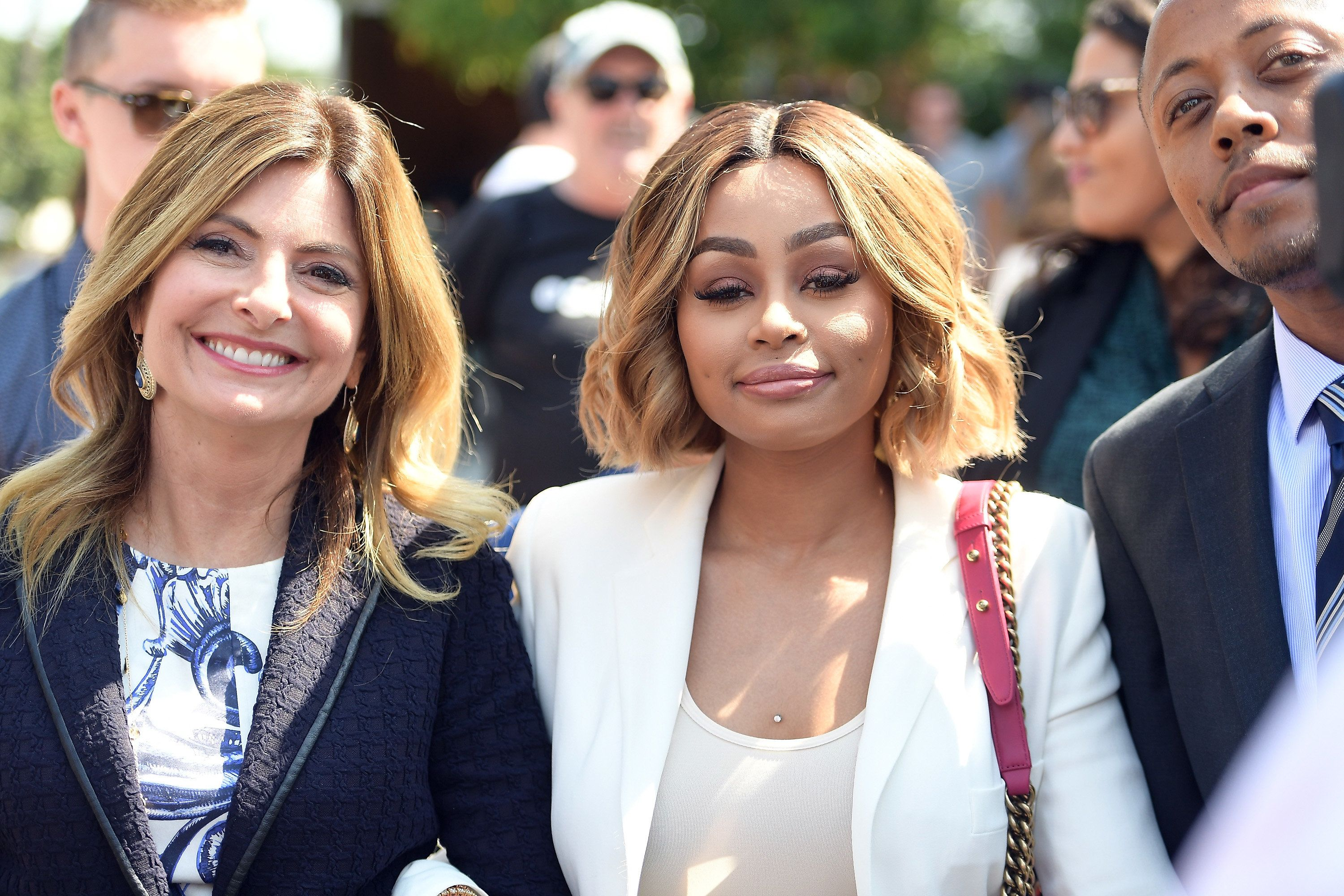LOS ANGELES, CA - JULY 10:  Lisa Bloom (L) and Blac Chyna attend a pre-court hearing press conference at Los Angeles Superior Court on July 10, 2017 in Los Angeles, California.  (Photo by Matt Winkelmeyer/Getty Images)