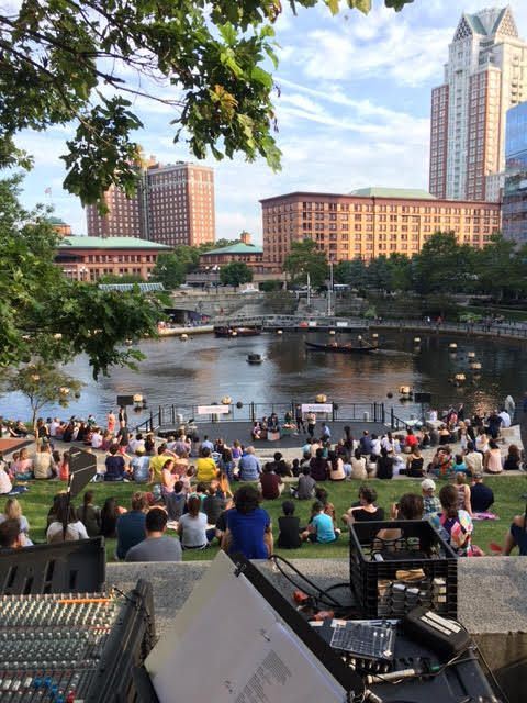 "Trinity Rep's <em>Romeo and Juliet, </em>this year's ""Shakespeare en el Verano"" production, in downtown Providence"