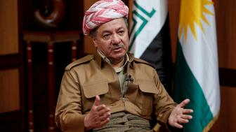 Iraq's Kurdistan region's President Massoud Barzani speaks during an interview with Reuters in Erbil, Iraq July 6, 2017. REUTERS/Azad Lashkari