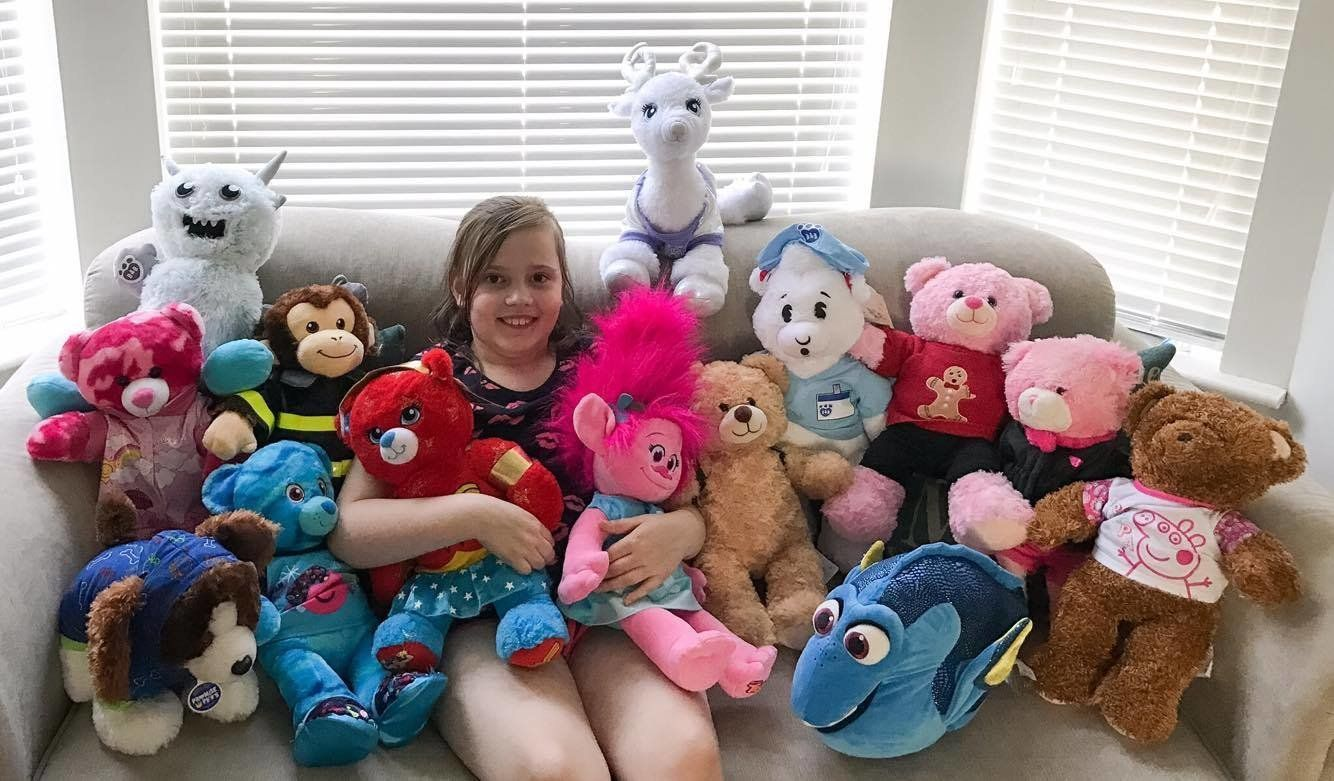 Sarah Rawsthorne wrote a hilarious open letter to Build-A-Bear Workshop, a store from which her daughter, Ruby (above),has about 20 toys.