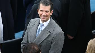 Donald Trump Jr., son of U.S. President-elect Donald Trump, arrives for the 58th presidential inauguration in Washington, D.C., U.S., on Friday, Jan. 20, 2017. Trump will become the 45th president of the United States today, in a celebration of American unity for a country that is anything but unified. Photographer: Daniel Acker/Bloomberg via Getty Images