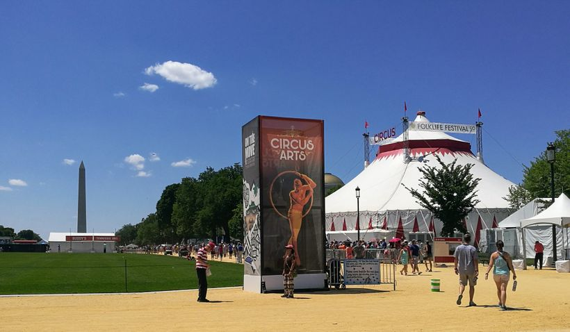 <em>A dream version of Washington D.C. appears on the National Mall like a shimmering mirage in the summer heat</em>