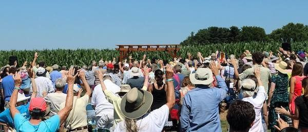 Roughly 300 peopleattended the chapel's dedication ceremony on July 9.