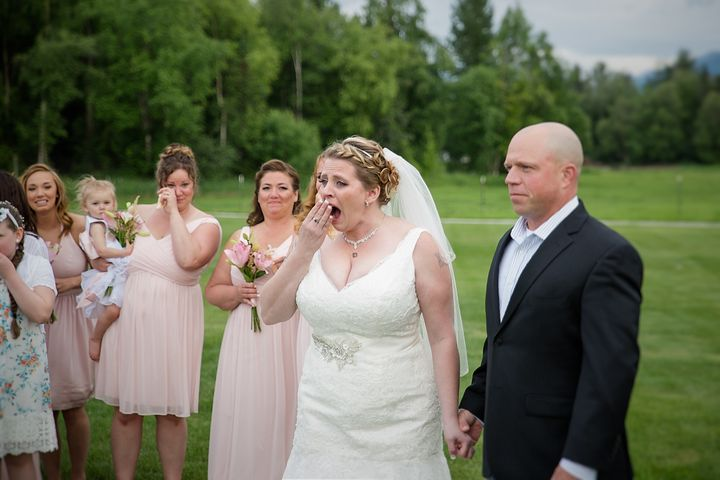 Becky was visibly shocked to see Jacob at the wedding.
