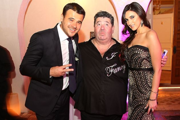 Singer Emin Agalarov, publicist Rob Goldstone and Emin's sister, Sheila Agalarova, at a New Year's Eve...