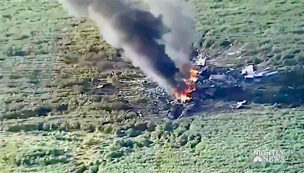 A U.S. military plane crashed in rural Mississippi on Monday evening