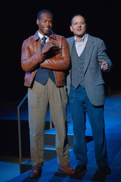 Rafael Jordan (The Gentleman Caller) and Sean San Jose (Tom) in a scene from <strong><em>The Glass Menagerie</em></strong>