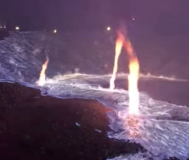 Freakish sulfur fire footage will leave you in awe