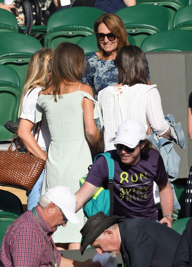 Pippa Middleton and Carole Middleton attend day seven of the Wimbledon Tennis