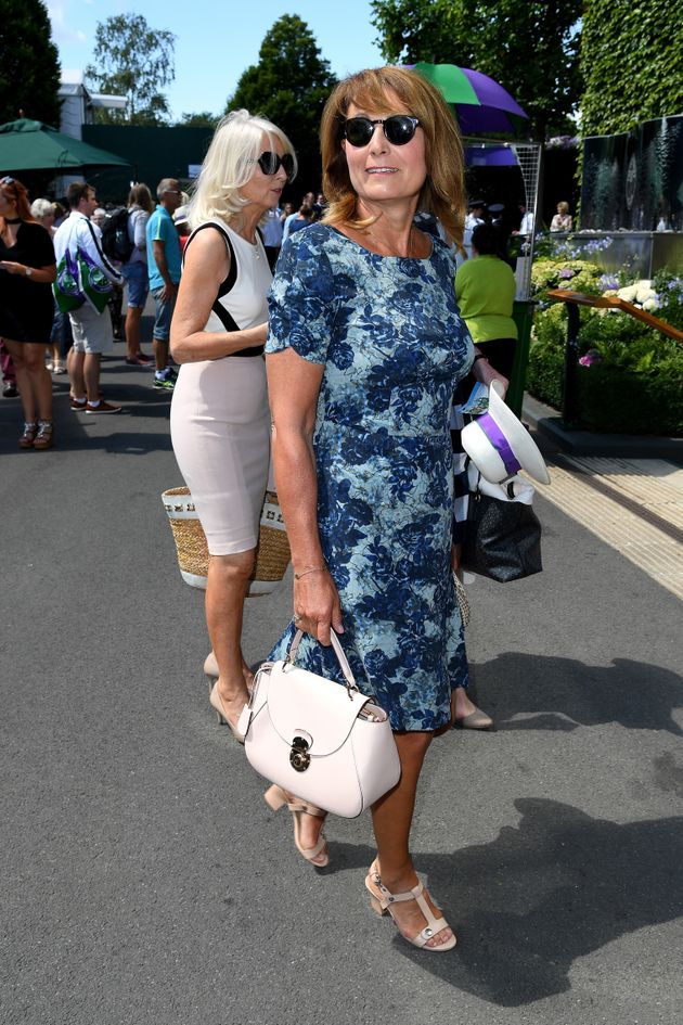 Carole Middleton attends day seven of the Wimbledon Tennis