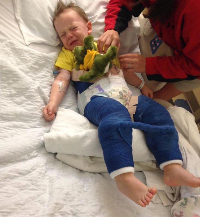 Esta madre advierte sobre los riesgos de las camas elásticas para los menores de 6