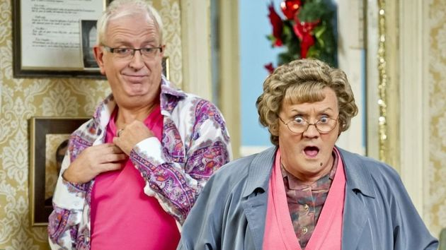 Rory (left) with Brendan O'Carroll as Mrs.