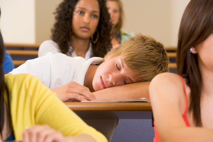 <p>Student asleep in class</p>