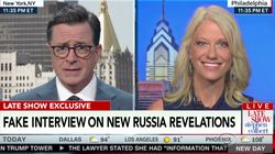 Colbert's Fake Kellyanne Conway Interview Is Just As Productive As A Real