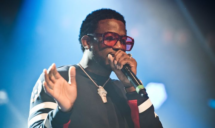 Gucci Mane performs on stage on Day 6 of Roskilde Festival on June 29, 2017 in Roskilde, Denmark.