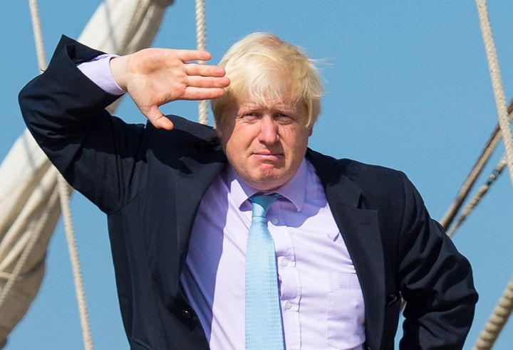 Boris Johnson salutes to Brexit's 'Titanic success'