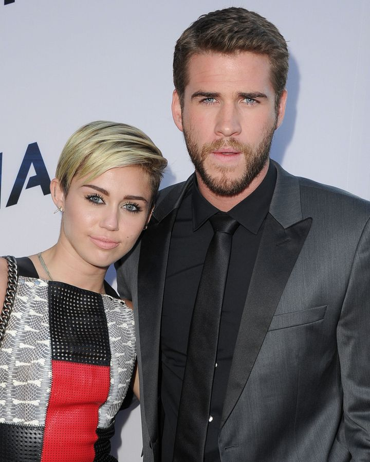 MIley Cyrus and Liam Hemsworth in 2013.