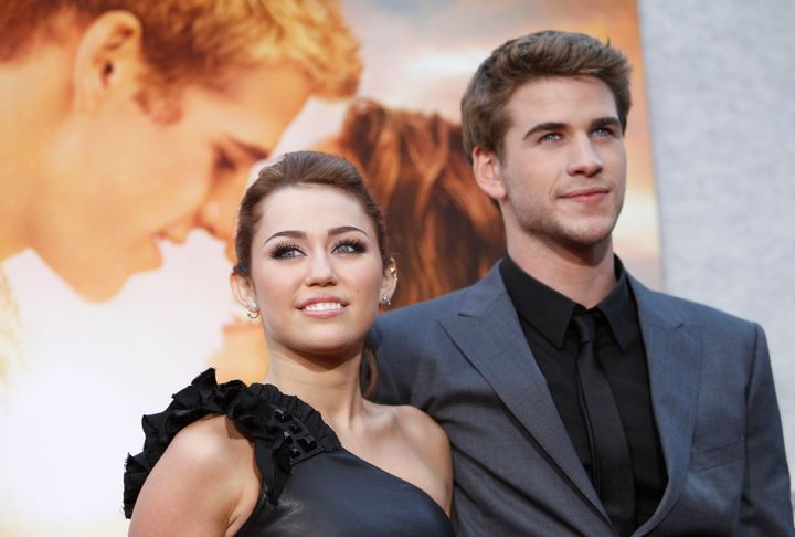 MIley Cyrus and Liam Hemsworth in 2010.
