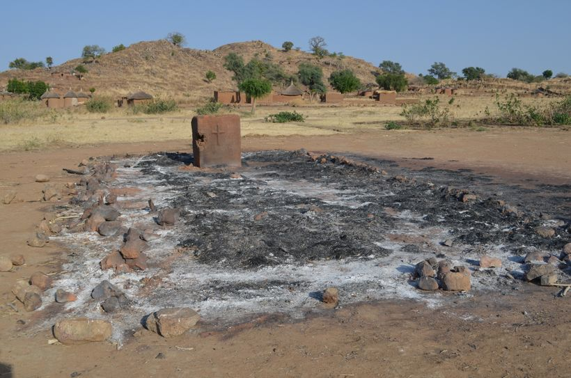 A bombed church in the Nuba Mountains.
