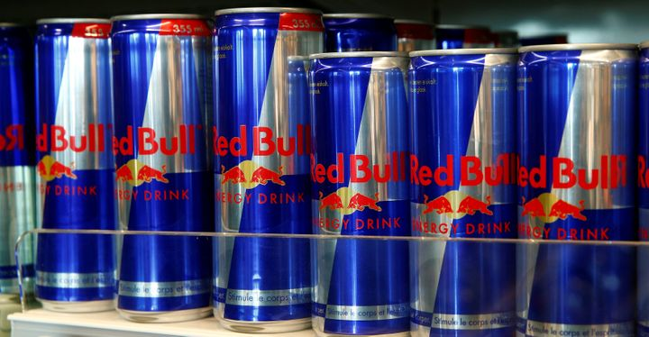 A row of Red Bull's, the leadingenergy currently on the market.