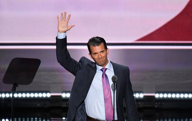 Donald Trump Jr. speaks at the 2016 Republican National Convention in Cleveland on July 19,