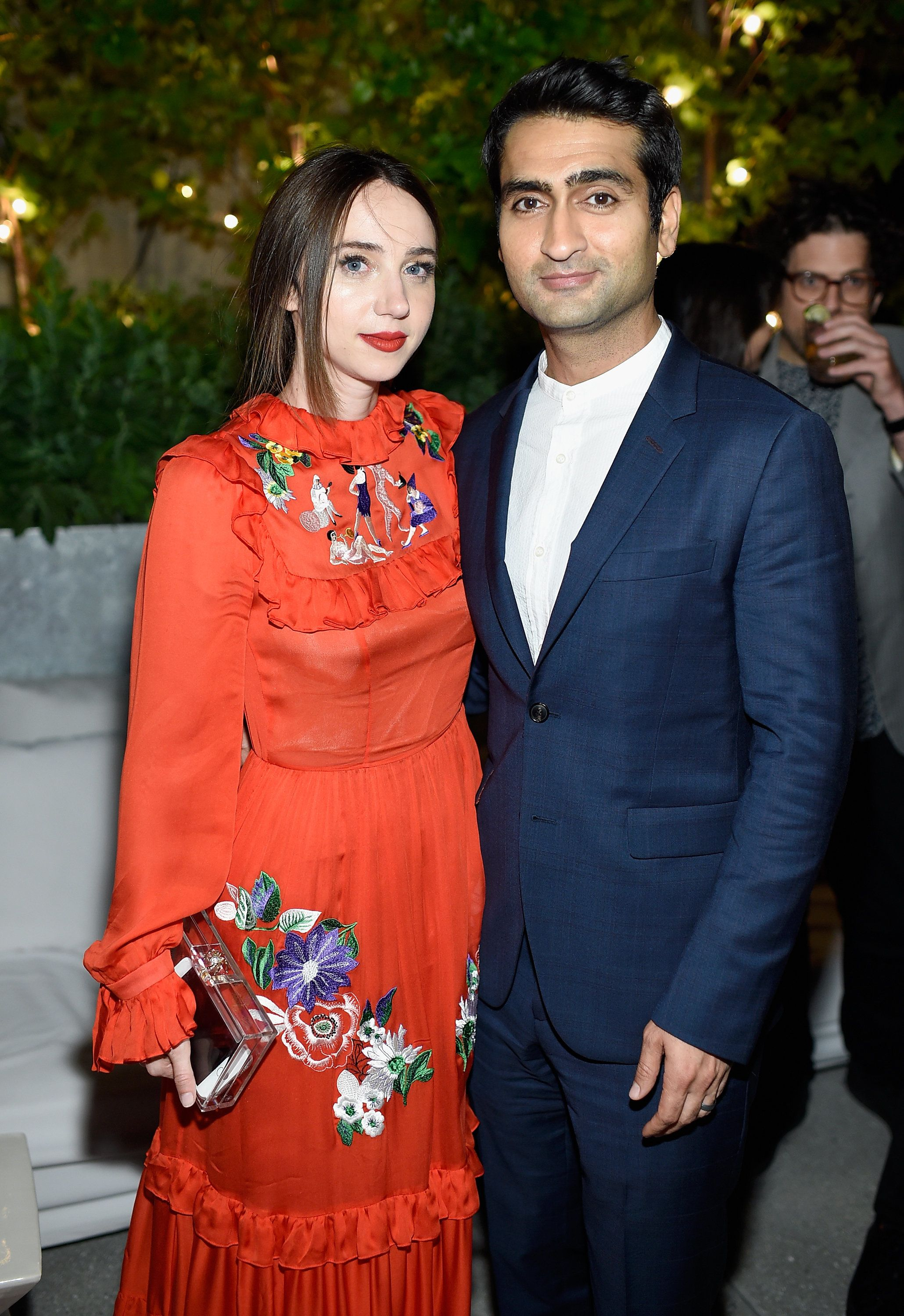NEW YORK, NY - JUNE 20:  Zoe Kazan, and Kumail Nanjiani attend 'The Big Sick' New York Premiere after party at The Roof on June 20, 2017 in New York City.  (Photo by Dimitrios Kambouris/Getty Images)