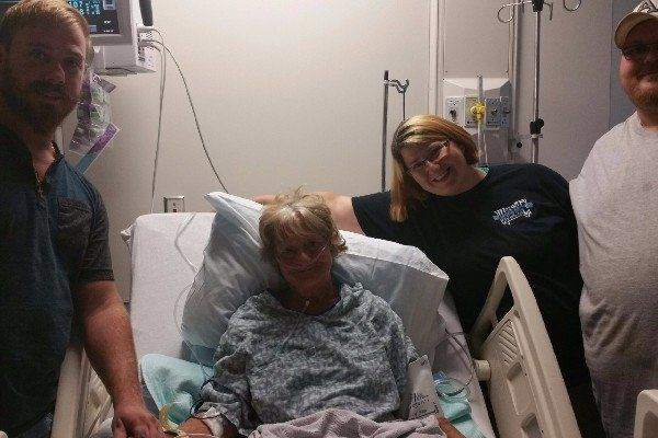 Roberta Ursrey's mother was hospitalized after being pulled from the rough