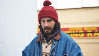 Actor and filmmaker Shia LaBeouf visits an interactive installation he helped coordinate outside the Museum of the Moving Image on Thursday, January 26, 2017 in Queens, N.Y. LaBeouf, who has had a series of run-ins with the law in the past, was attending the anti-Donald Trump interactive installation when a shouting match erupted between two groups around 12:30 a.m.   LaBeouf was arrested after getting into a scuffle.   (Photo by James Keivom James Keivom/NY Daily News via Getty Images)
