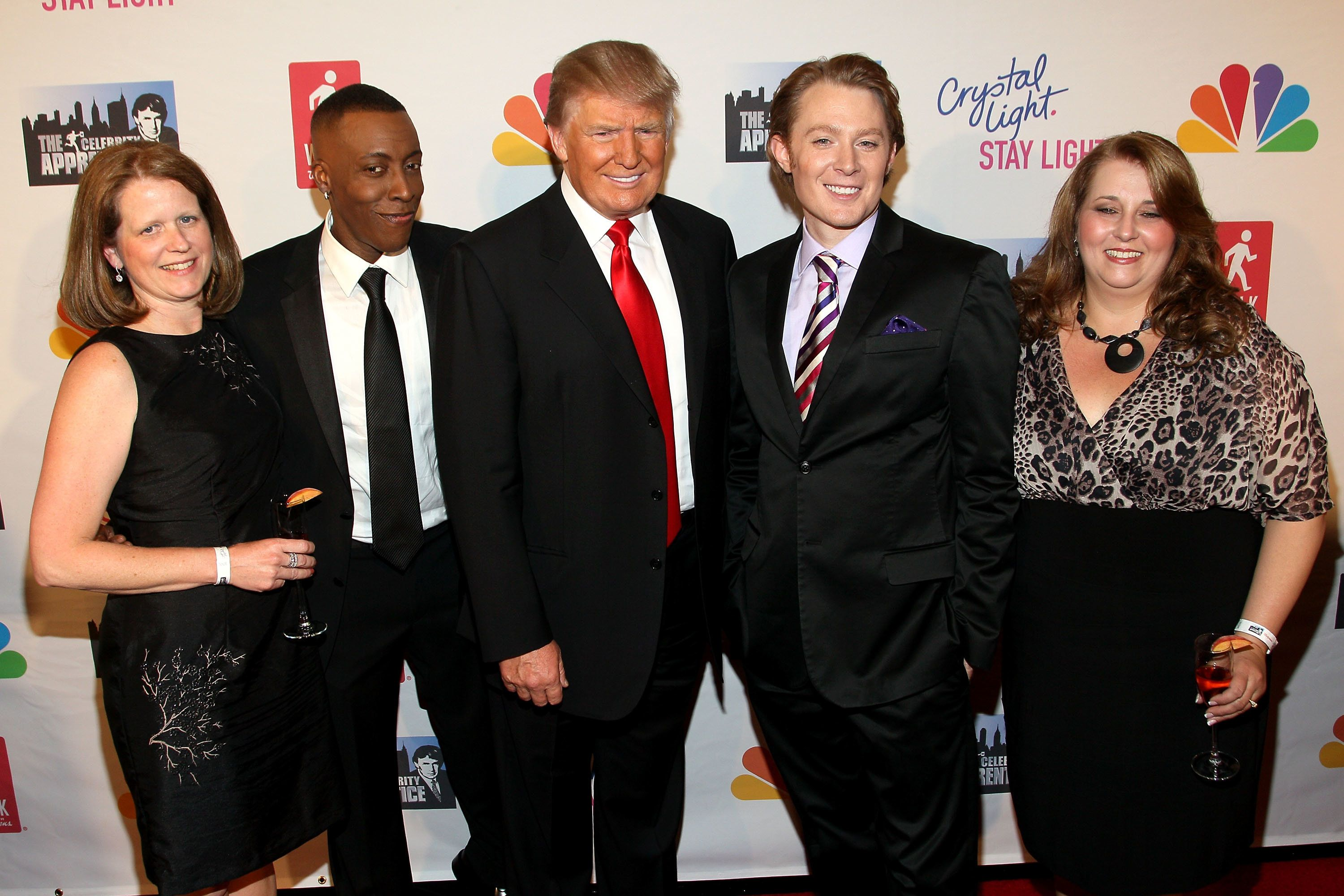 NEW YORK, NY - MAY 20:  Guest, Arsenio Hall, Donald Trump and Clay Aiken and guest attend the 'Celebrity Apprentice' Live Finale at American Museum of Natural History on May 20, 2012 in New York City.  (Photo by Steve Mack/FilmMagic)